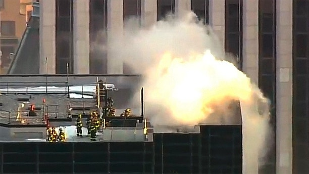 Trump Tpwer fire NYC