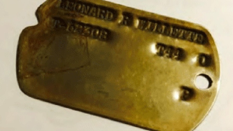 One of the dog tags reportedly taken from the National Archives in Maryland.