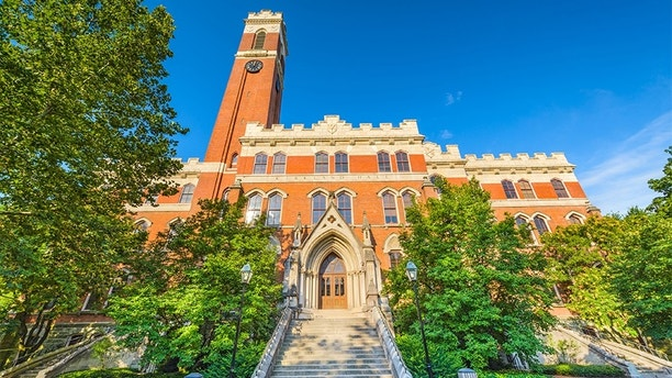 Nashville, TN, USA - July 10, 2013: The exterior of Kirkland Hall on the campus of Vanderbilt University. The building is the oldest on campus dating from 1874.