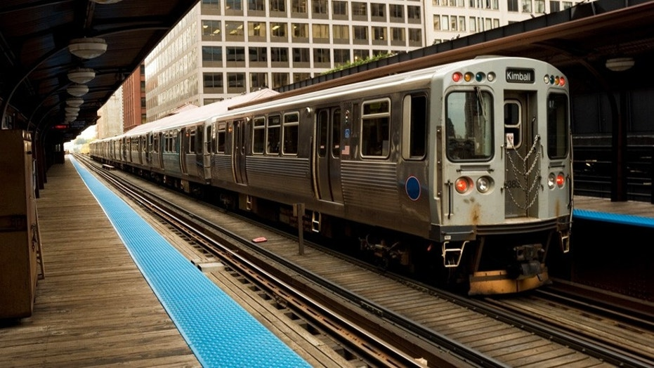 A man aboard the Chicago Transit Authority allegedly doused a woman with a liquid from a bottle before starting a small fire.