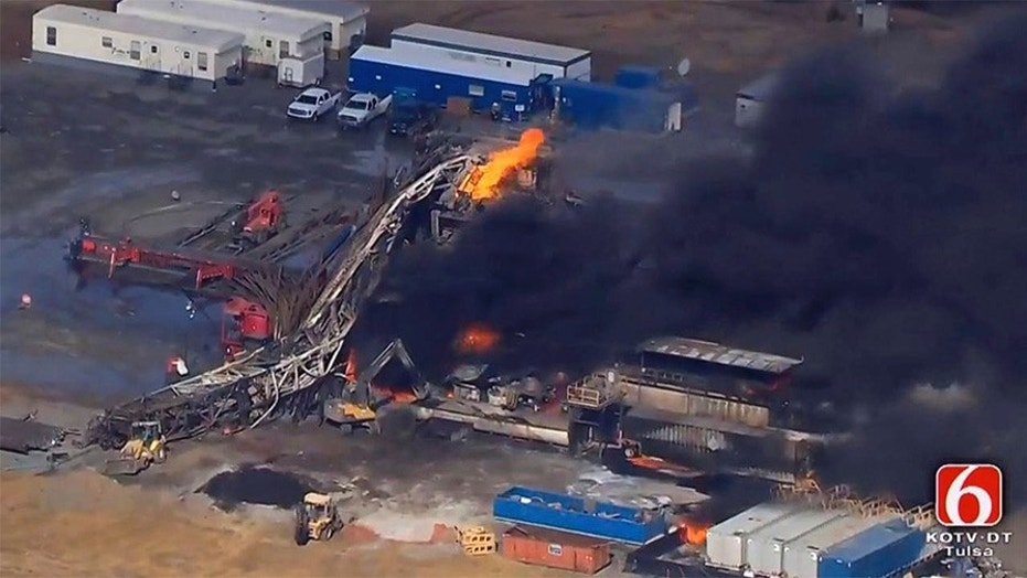 The remains of five employees who were reported missing after an Oklahoma rig explosion on Monday have been recovered, officials said Tuesday.