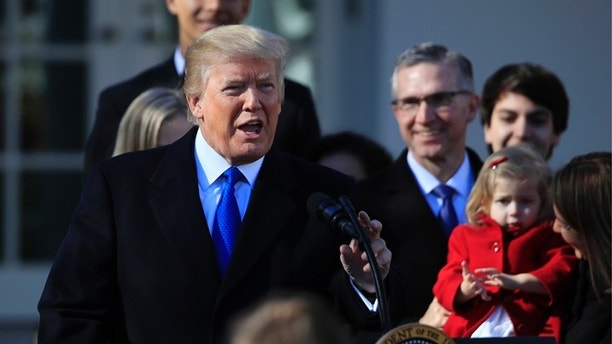 President Donald Trump speaks to participants of the annual March for Life event, in the Rose Garden of the White House in Washington, Friday, Jan. 19, 2018. (AP Photo/Manuel Balce Ceneta)