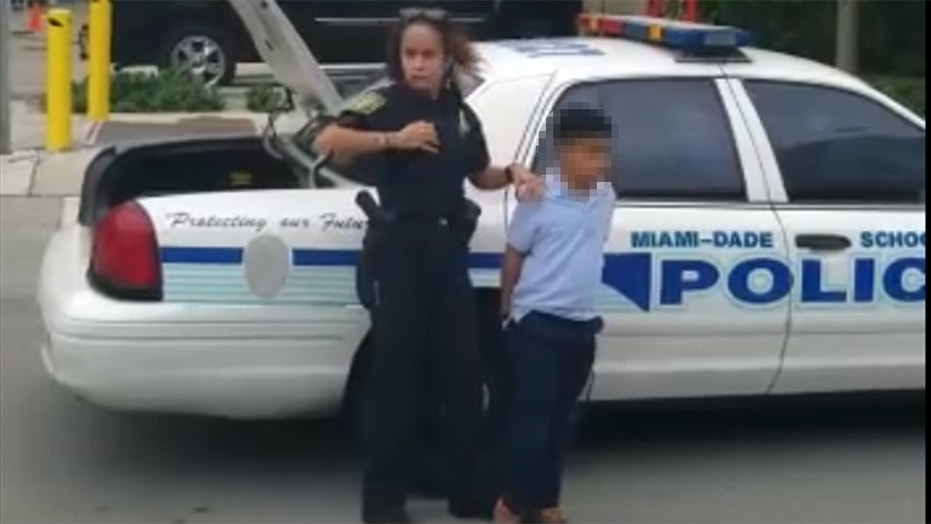 Boy, 7, taken from school in handcuffs after allegedly attacking teacher