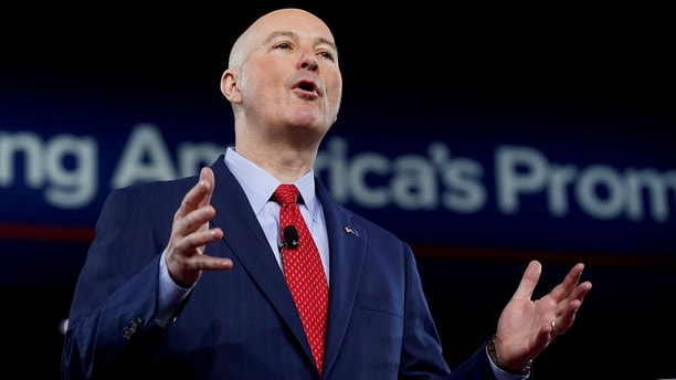 Republican Governor of Nebraska Pete Ricketts speaks at the Conservative Political Action Conference (CPAC) in Oxon Hill, Maryland, U.S. February 24, 2017. REUTERS/Joshua Roberts - RC15274F15E0
