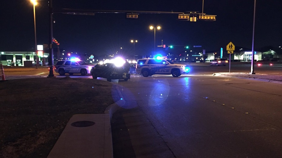 Richardson police close off roads while responding to a report of a disturbance call.