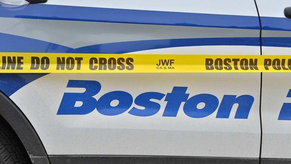 A Boston police cruiser