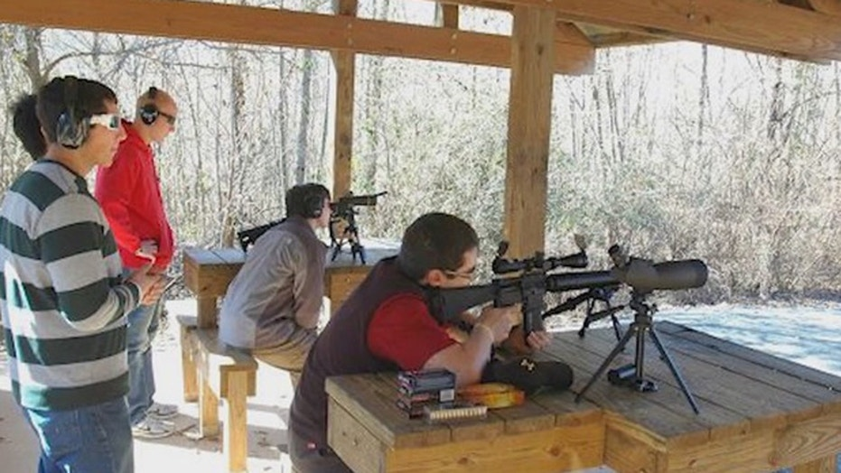 "The Marksmanship Club at Georgia Tech was formed to give students ""education and training in firearms safety."""