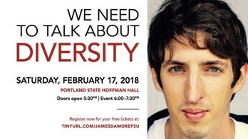 James Damore event poster
