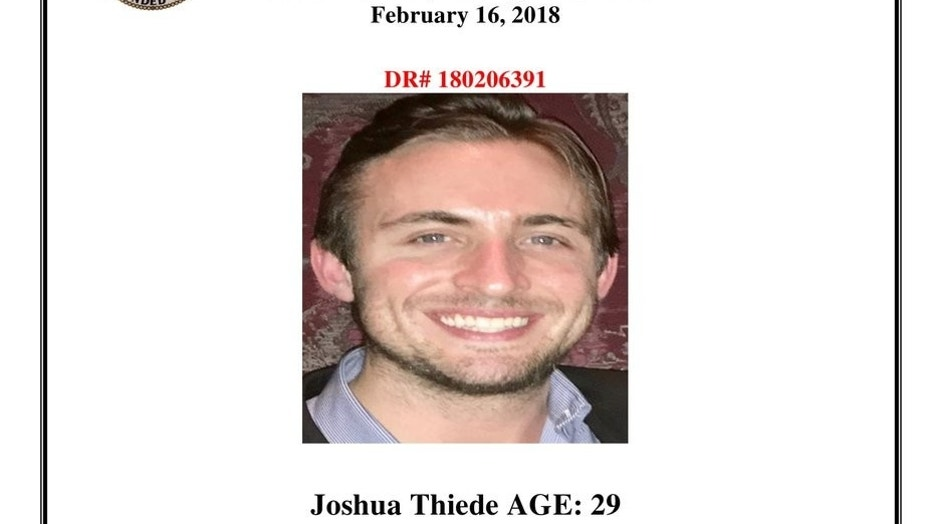 Joshua Thiede had made a 911 call the day after he was last seen, his family said.