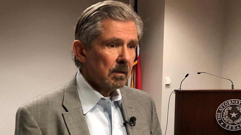 Feb. 12, 2018: Kent Whitaker speaks to reporters after asking the chairman of the Texas Board of Pardons and Paroles to spare the life of his son Thomas Whitaker.