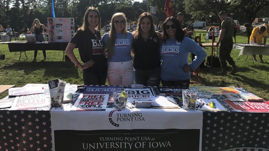 Student government leaders at an Iowa college have refused to officially recognize a conservative student group because of its affiliation with the national chapter.