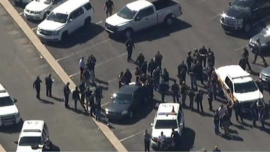 An Arizona officer is in serious condition after being shot Friday during a confrontation with a violent suspect.