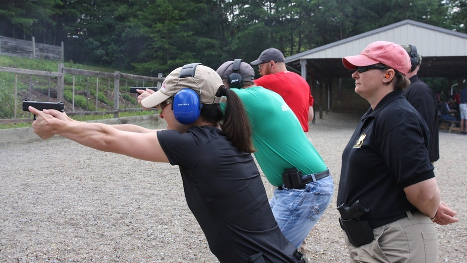 Teachers in Ohio taking target practice.