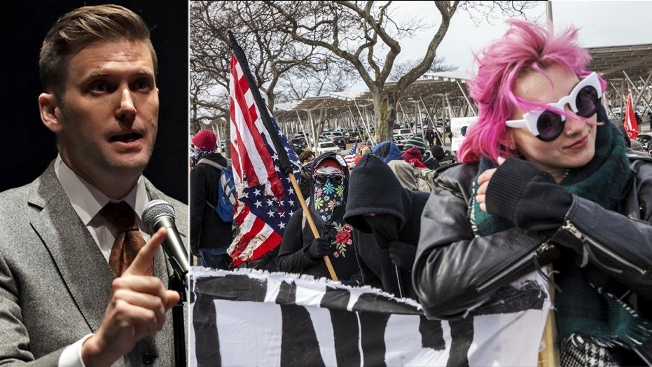 Protestors clash with cops ahead of Richard Spencer speech at Michigan State