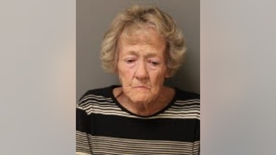 Sarah Griffin, 68, was arrested after bringing a Doritos bag filled with drugs to prison, police said.