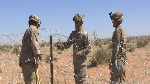 army barbed wire