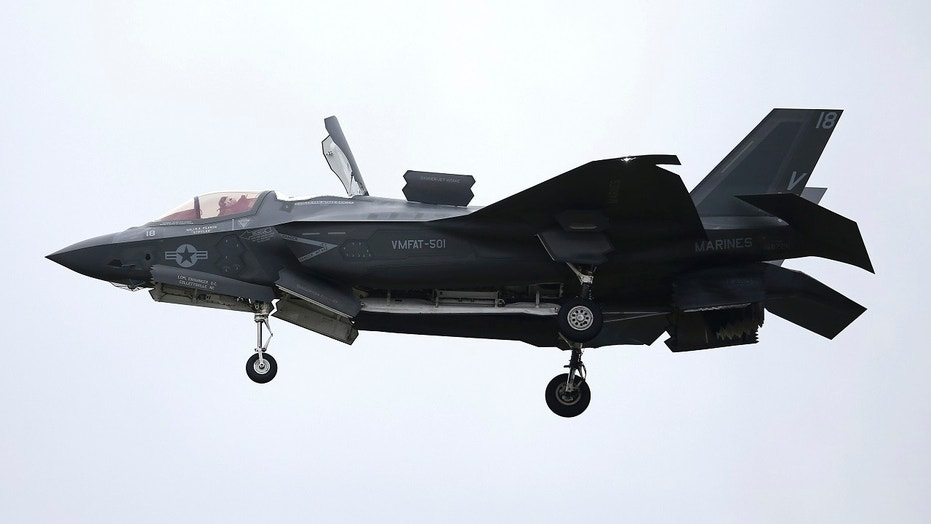 A F-35B aircraft landed on the amphibious assault ship USS Wasp for the first time in the Indo-Pacific for the first time on Monday.