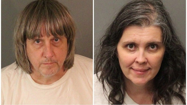 A combination photo of David Allen Turpin (L) and Louise Ann Turpin as they appear in booking photos provided by the Riverside County Sheriff's Department in Riverside County, California, U.S., January 15, 2018.   Riverside County Sheriff's Department/Handout via REUTERS   ATTENTION EDITORS - THIS IMAGE WAS PROVIDED BY A THIRD PARTY.   THIS PICTURE WAS PROCESSED BY REUTERS TO ENHANCE QUALITY. AN UNPROCESSED VERSION HAS BEEN PROVIDED SEPARATELY - RC1DD6299C90