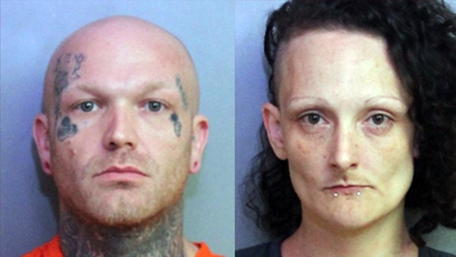Mug shots for Christopher Taylor and Kristina Sluss