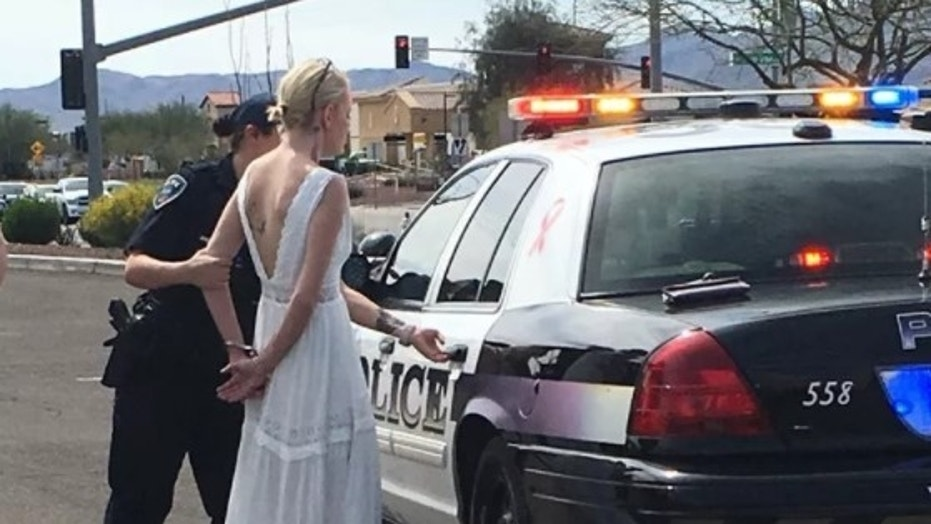Amber Young 32 was arrested and charged with DUI on Monday after allegedly driving drunk on the way to her own wedding