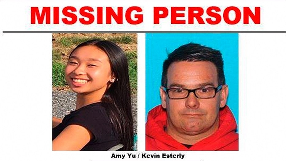 There have been no reported sightings of Amy Yu, 16, and Kevin Esterly, 45, since March 8.
