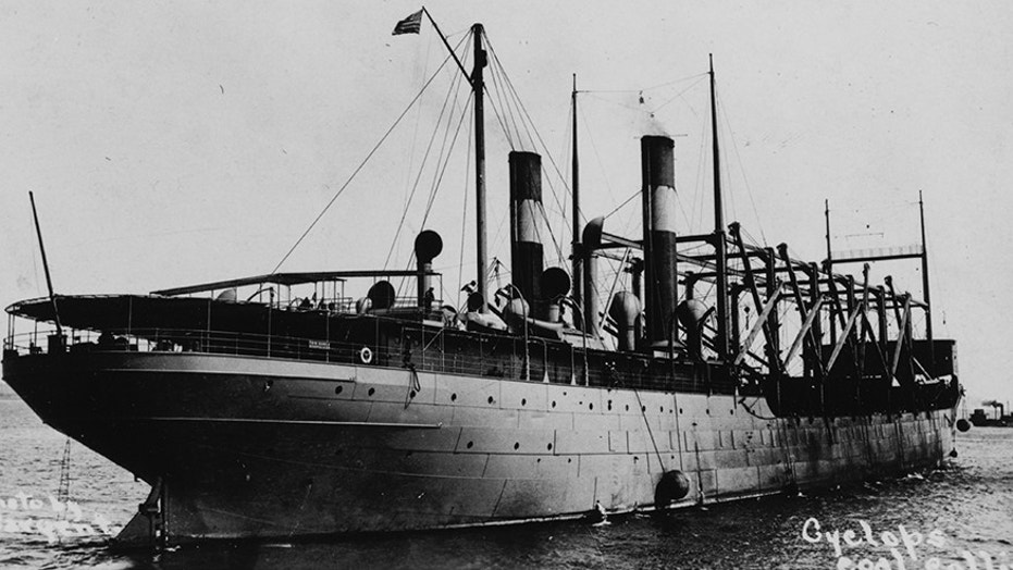 The USS Cyclops in 1913. The mammoth coal-hauling transport ship disappeared in 1918 and its whereabouts, to this day, remain unknown.