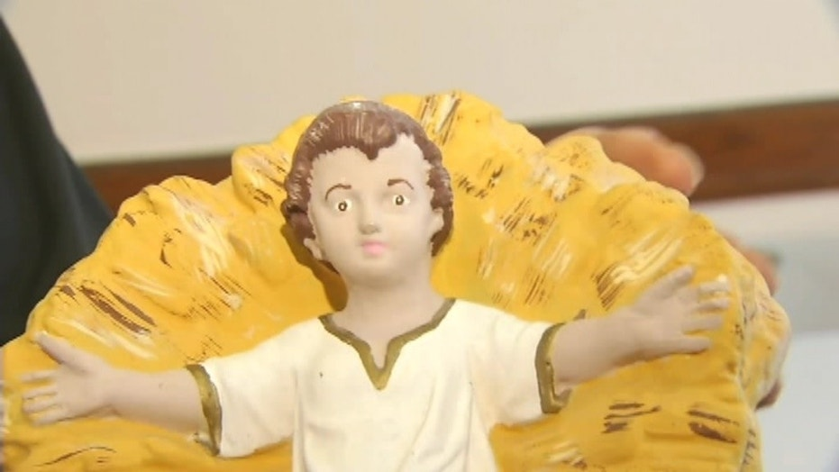 A baby Jesus statue has been returned to a New Jersey church after being stolen nearly 90 years ago.
