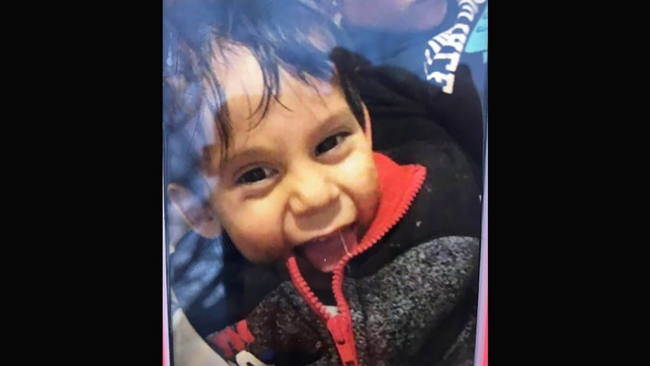 Nain Dominguez, 2, died hours after he was found, police said.