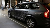 FILE  - In this Dec. 13, 2016 file photo, an Uber driverless car is displayed in a garage in San Francisco. Uber suspended all of its self-driving testing Monday, March 19, 2018, after what is believed to be the first fatal pedestrian crash involving the vehicles. The testing has been going on for months in the Phoenix area, Pittsburgh, San Francisco and Toronto as automakers and technology companies compete to be the first with the technology. Uber's testing was halted after police in a Phoenix suburb said one of its self-driving vehicles struck and killed a pedestrian overnight Sunday. (AP Photo/Eric Risberg, File)