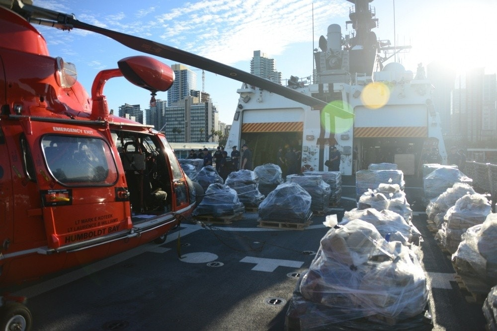 Coast Guard seizes 36,000 lbs. of cocaine during Pacific drug patrol