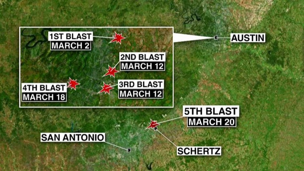 Texas Bombing Map