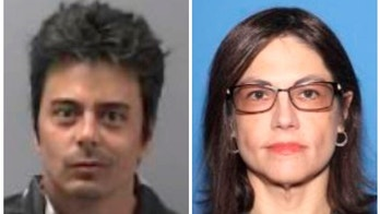 This combination of undated photos provided by the Arkansas State Hospital in Little Rock shows hospital patient Cory Chapin, left, and psychologist Michelle Messer. An arrest warrant was issued for Messer on Wednesday, March 21, 2018, accusing her of taking Chapin from the hospital without permission on Tuesday. (Arkansas State Hospital via AP)