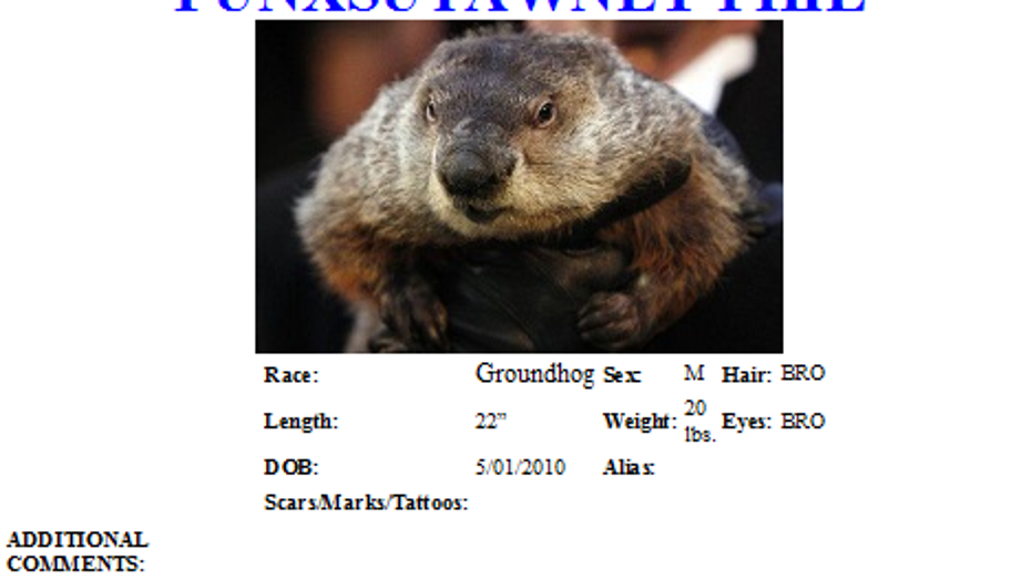Punxsutawney Phil gets wanted poster after winter storms continue