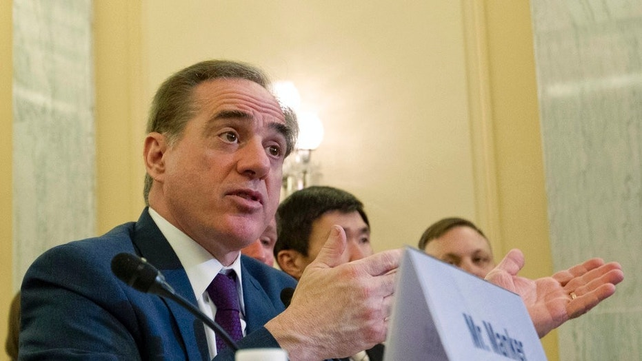Veterans Affairs Secretary David Shulkin testifies for veterans programs before the Senate Committee on Veterans Affairs on Capitol Hill.