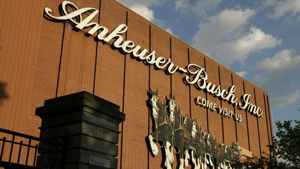 File: The Anheuser-Busch brewery in St. Louis.
