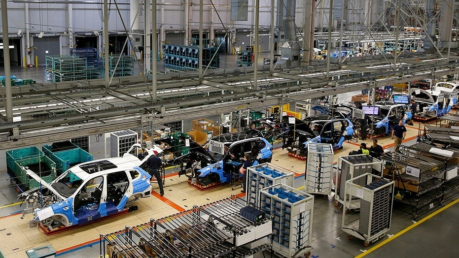 """BMW confirmed Wednesday an """"accidental death"""" that occurred at a manufacturing plant in South Carolina. File photo showing the interiors of the BMW manufacturing plant in Spartanburg, South Carolina."""