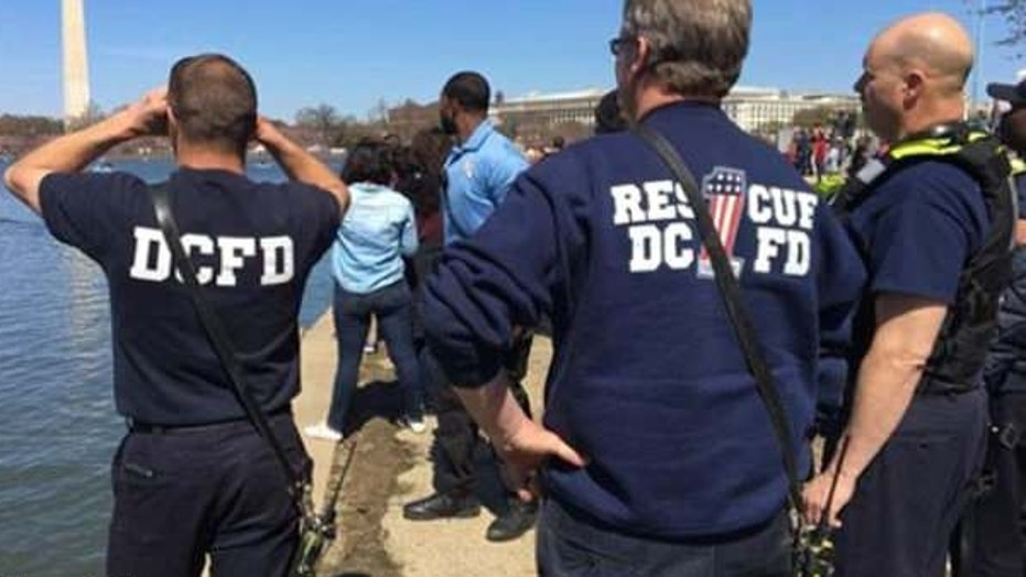 Police is investigating a death of a man after a man's body was rescued from the Tidal Basin Saturday in Washington, D.C. as masses gathered for the annual Cherry Blossom Festival.