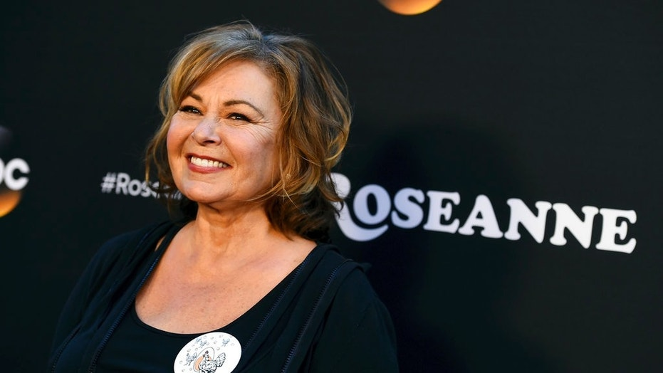"""Roseanne Barr arrives at the Los Angeles premiere of """"Roseanne,"""" March, 23, 2018."""