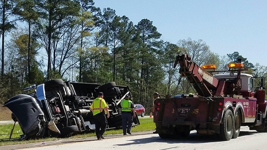 Bus overturns on way to Masters tournament, several hurt