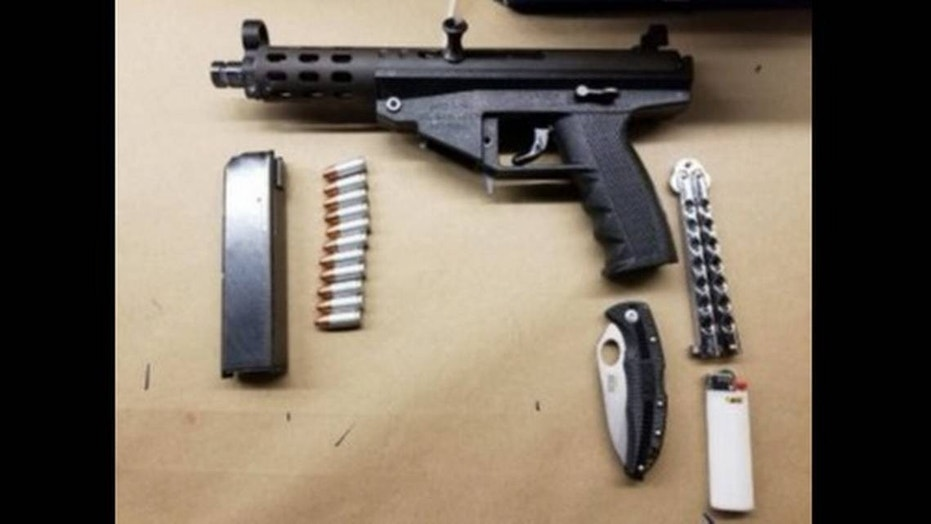 Administrators at Winter Haven Christian School called police after they confiscated a student's backpack that allegedly containing a semiautomatic pistol and two knives.
