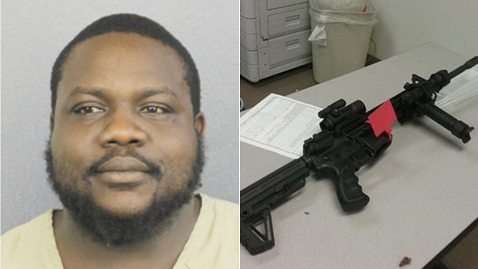 Jerron Smih, 31, of Deerfield Beach, Fla., had his AR-15 semiautomatic weapon confiscated.