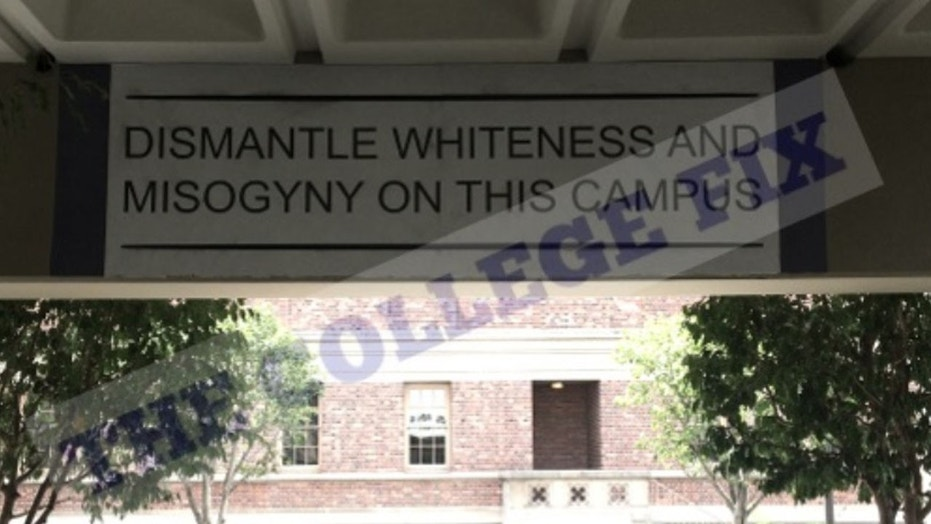 """The University of Southern California installed a """"dismantle whiteness"""" mural stirring up controversy on campus."""