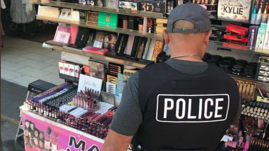 Los Angeles police seized around $700,000 of counterfeit makeup last week.
