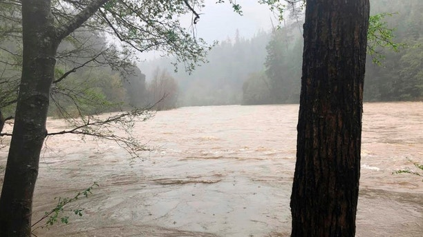 County Sheriff's Office shows the Eel River in Northern California. Authorities searching for a family whose SUV plunged into a Northern California river have found the body of a