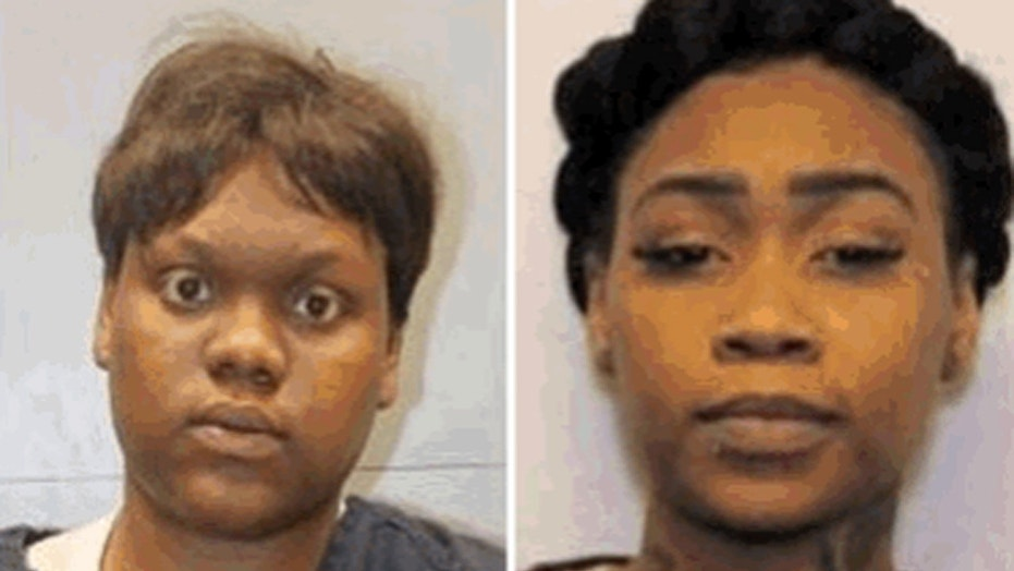 Brittany Jones, left, and her sister, Tiara, allegedly assaulted a woman during 'exorcism attempt,' reports say.