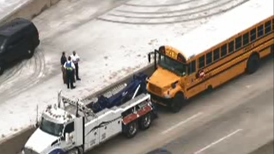 More than two dozen students were hurt in the crash outside Houston.