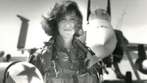 U.S. Navy Lieutenant Tammie Jo Shults, who is currently a Southwest Airlines pilot, poses in front of a Navy F/A-18A in this 1992 photo released in Washington, DC, U.S., April 18, 2018.    Thomas P. Milne/U.S. Navy/Handout via REUTERS    ATTENTION EDITORS - THIS IMAGE WAS PROVIDED BY A THIRD PARTY.     TPX IMAGES OF THE DAY - RC1E5D8B78C0