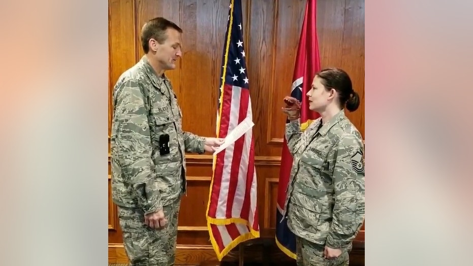 Disciplinary actions were announced Wednesday after three Tennessee Air National Guard airmen filmed a re-enlistment oath ceremony that involved a dinosaur hand puppet.