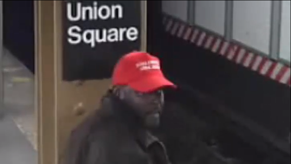 Man wearing 'MAGA' hat shoves stranger onto subway tracks