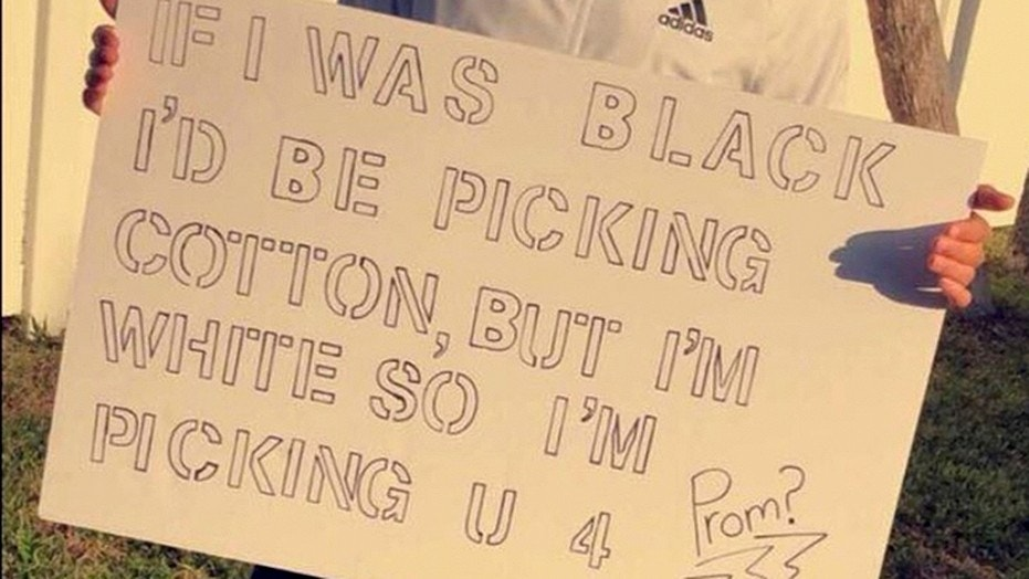 """A Florida school district is investigating a student's """"promposal"""" that many found racist and offensive."""